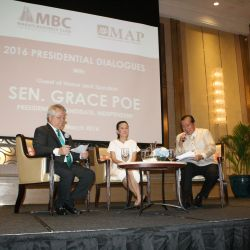 Sen. Grace Poe during the MBC 2016 Presidential Dialogues