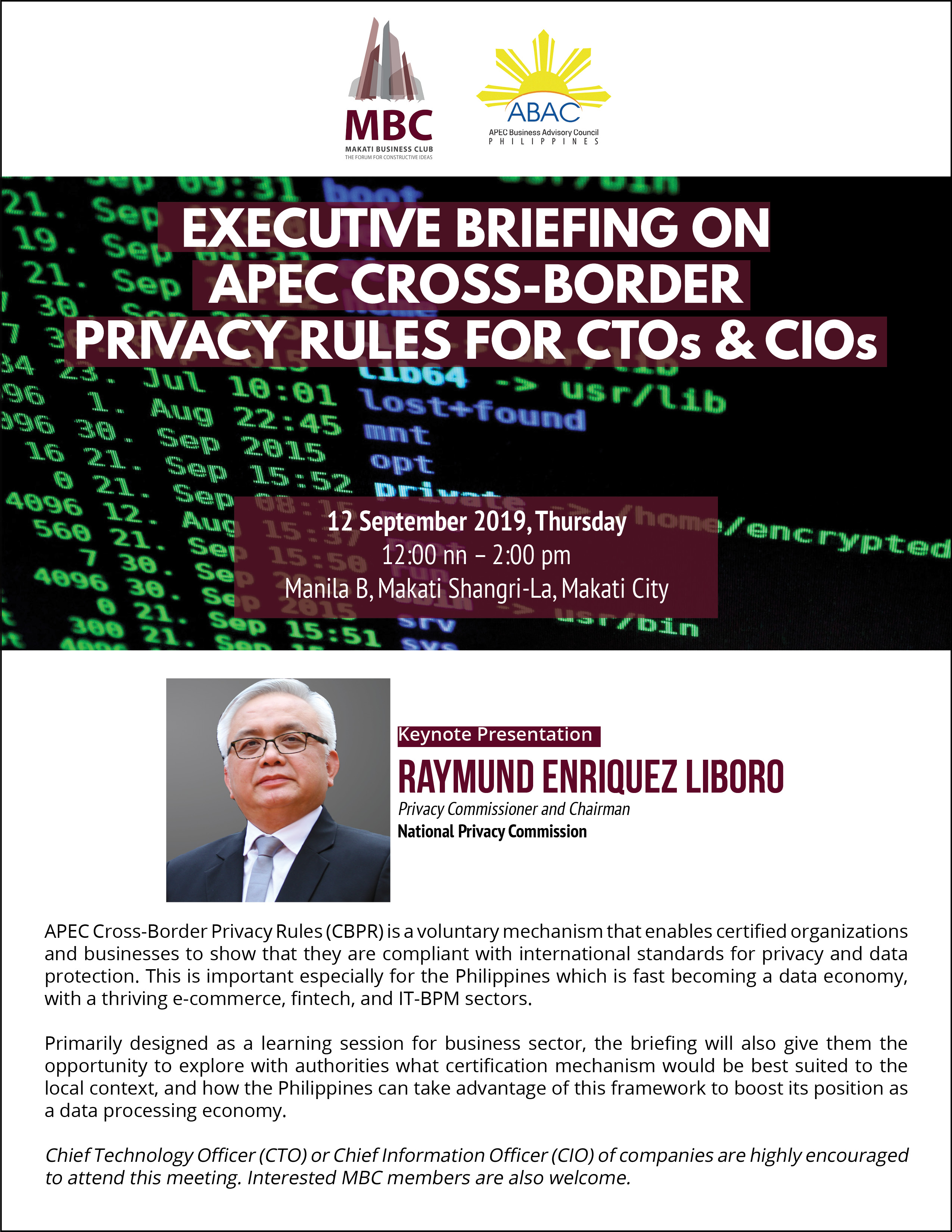 Executive Briefing on APEC Cross-Border Privacy Rules