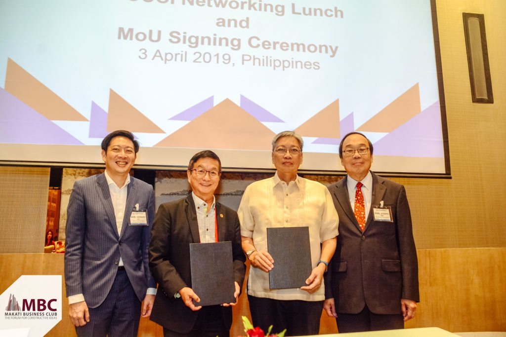 BUILDING ON PH-SG BILATERAL TIES, MBC SIGNS MOU WITH THE SINGAPORE CHINESE CHAMBER OF COMMERCE AND INDUSTRY (SCCCI)