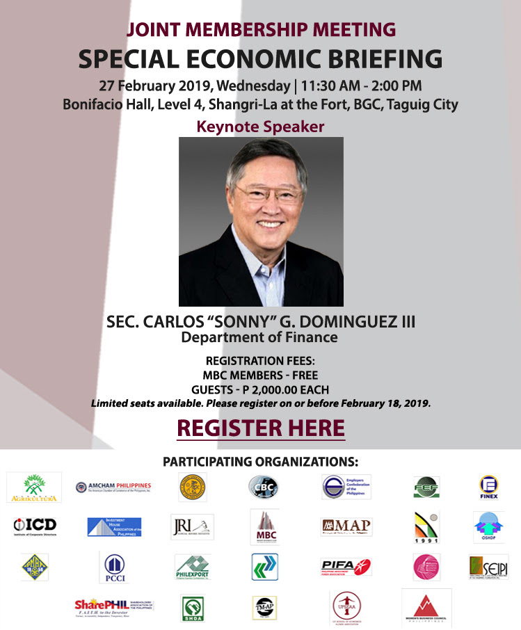 JMM on Special Economic Briefing with Sec. Sonny Dominguez