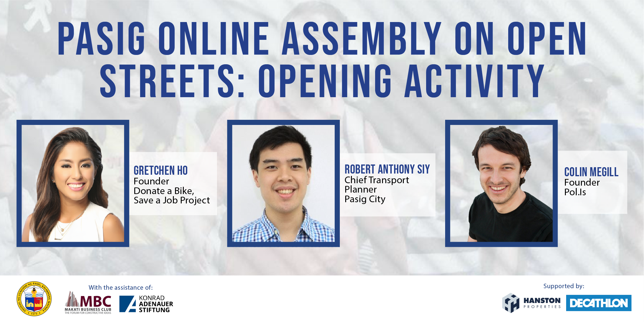 Pasig Online Assembly On Open Streets: Opening Activity