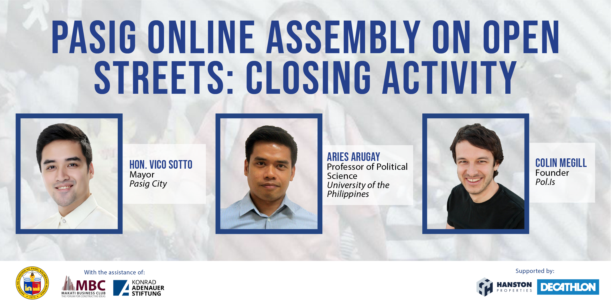 Pasig Online Assembly on Open Streets: Closing Activity