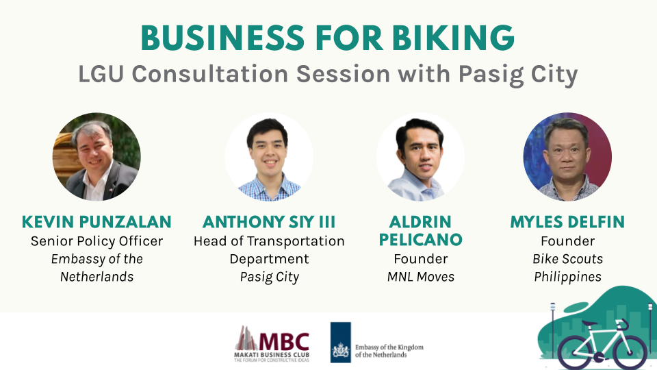 Business For Biking: LGU Consultation Session with Pasig City