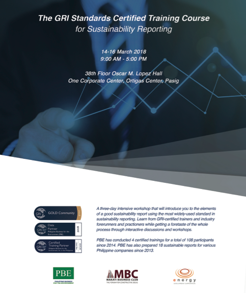 The GRI Standards Certified Training Course for Sustainability Reporting