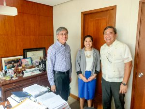 Rizza Palmares O'Connor with Judge Rico Liwanag and Atty. Peter Calimag