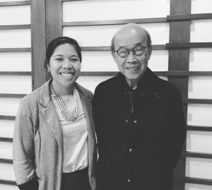 Rizza Palmares O'Connor with  Judge Cesar C. Cruz