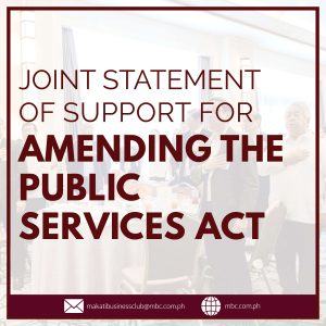 Joint Statement of Biz Groups for Public Services Act
