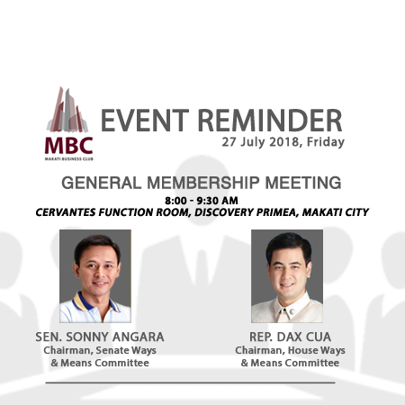 MBC General Membership Meeting with Sen. Sonny Angara and Rep. Dax Cua