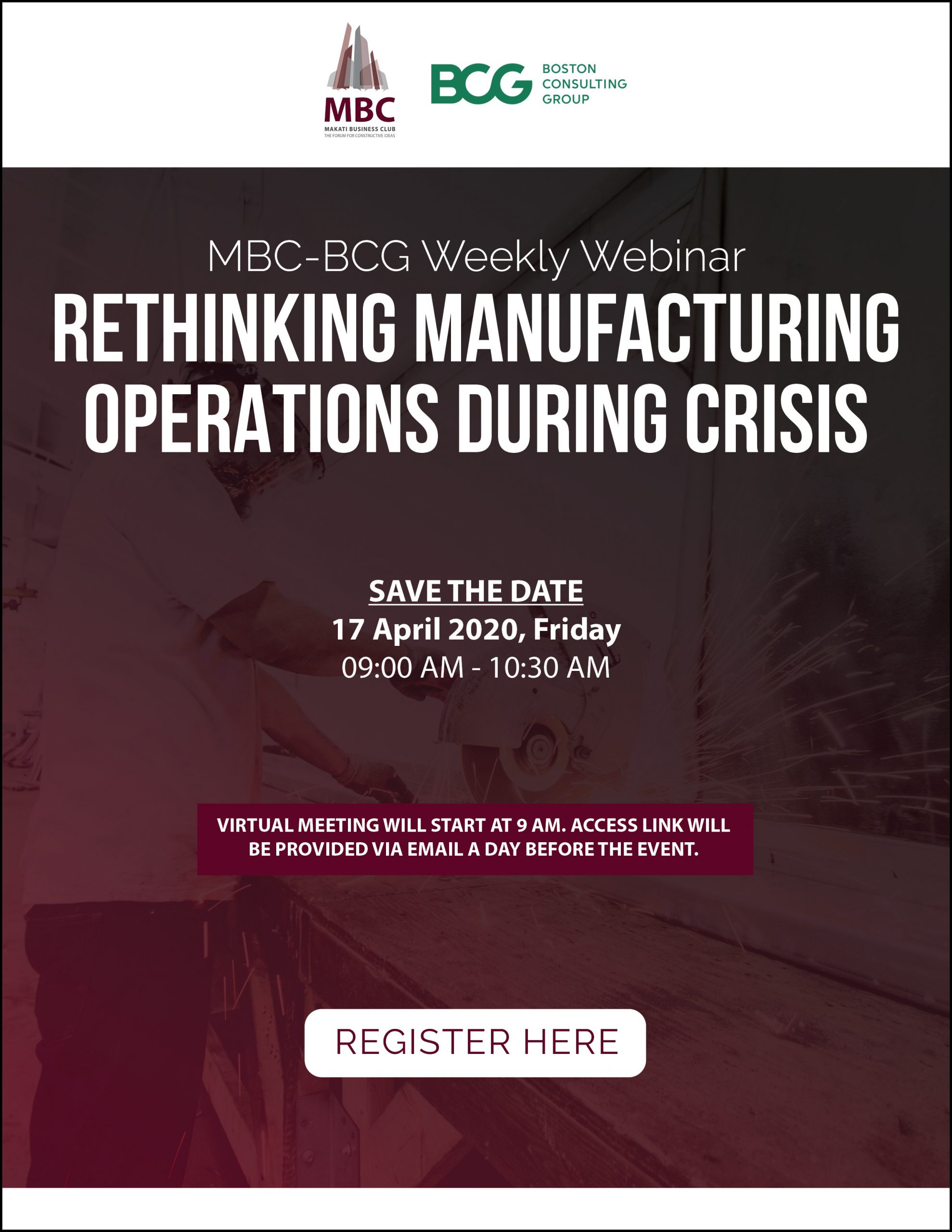 MBC-BCG Webinar 3: Rethinking Manufacturing Operations during Crisis
