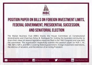 MBC Position Paper on Constitutional Amendments