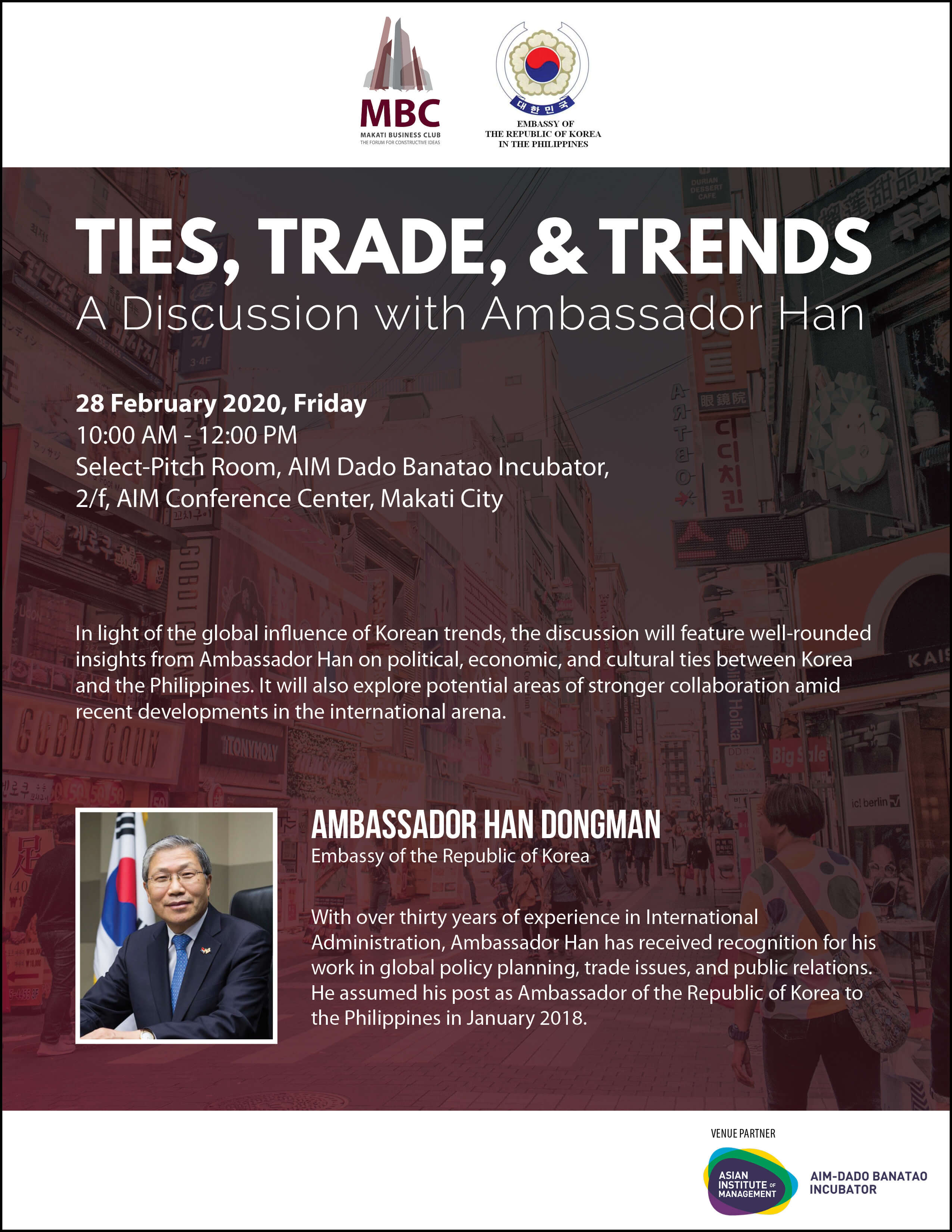 Ties, Trade, & Trends: A Roundtable Discussion with Ambassador Han Dongman