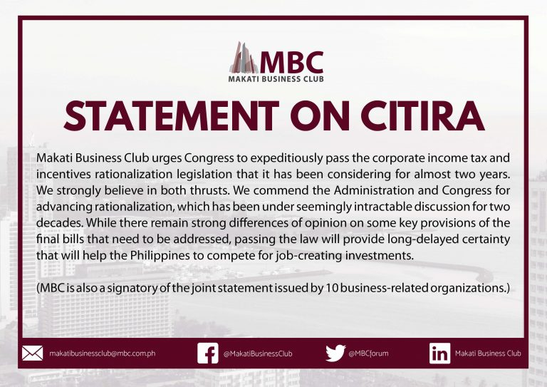 Makati Business Club on CITIRA