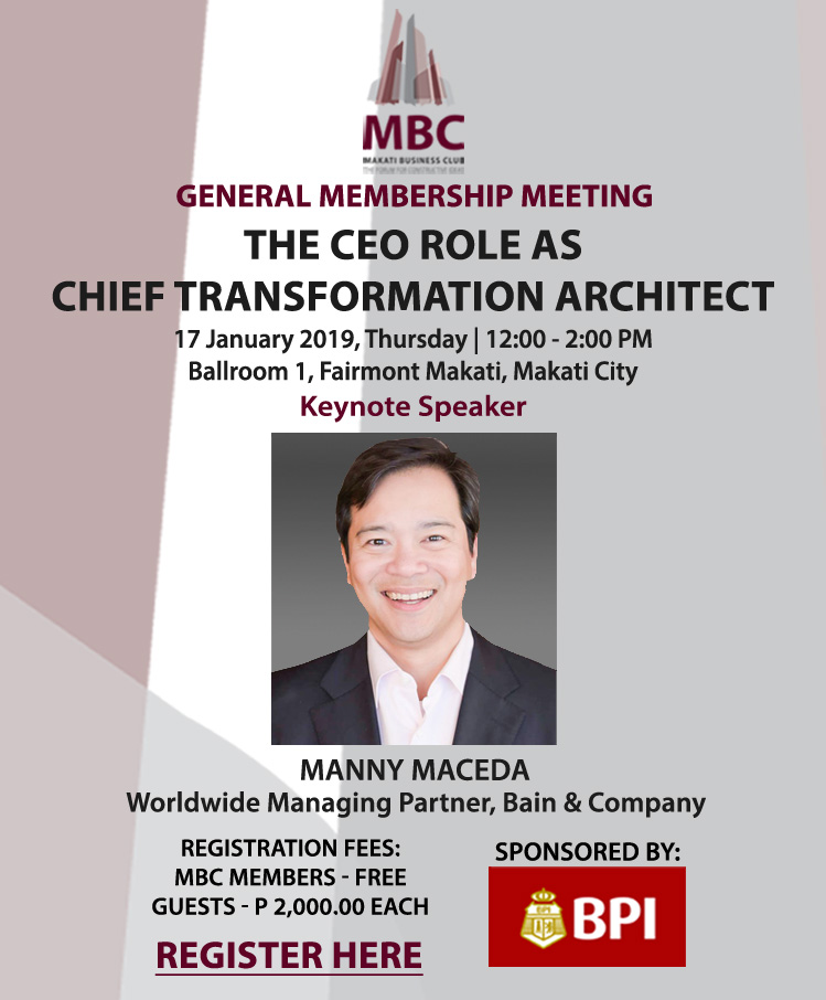 GMM – THE CEO ROLE AS CHIEF TRANSFORMATION ARCHITECT