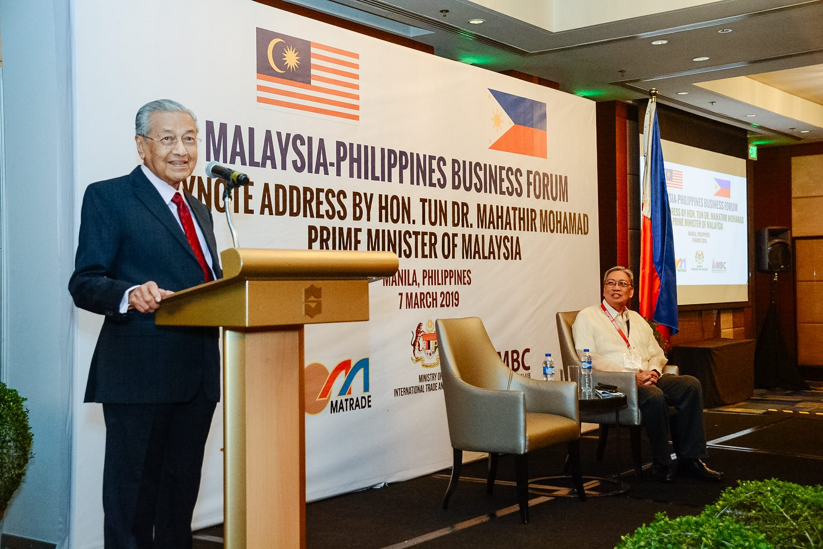 Roundtable Discussion with Malaysian Prime Minister Mahathir Mohammad on Malaysian-Philippine Business Partnership