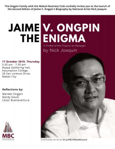 Relaunch of Jaime Ongping - The Enigma