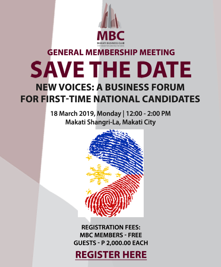 New Voices A Business Forum for First-Time National Candidates