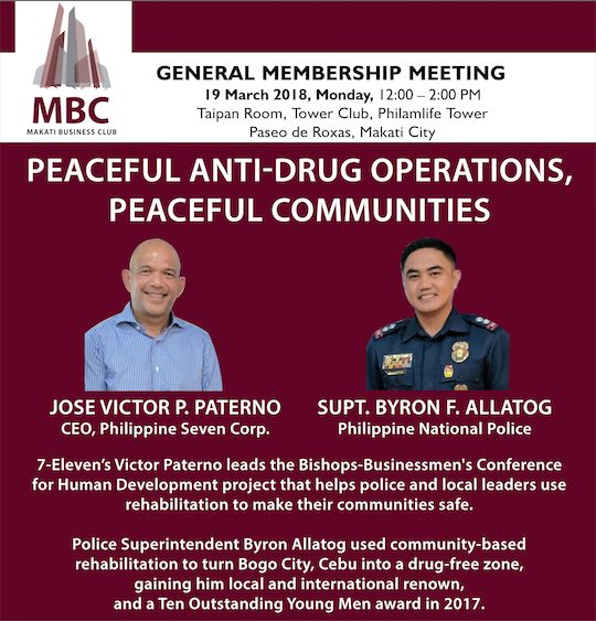 GMM with Jose Victor P. Paterno and Supt. Byron F. Allatog