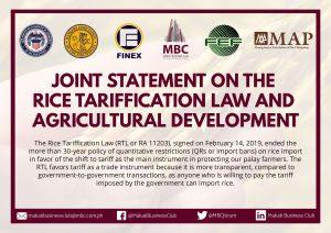 Statement on Rice Tarrification