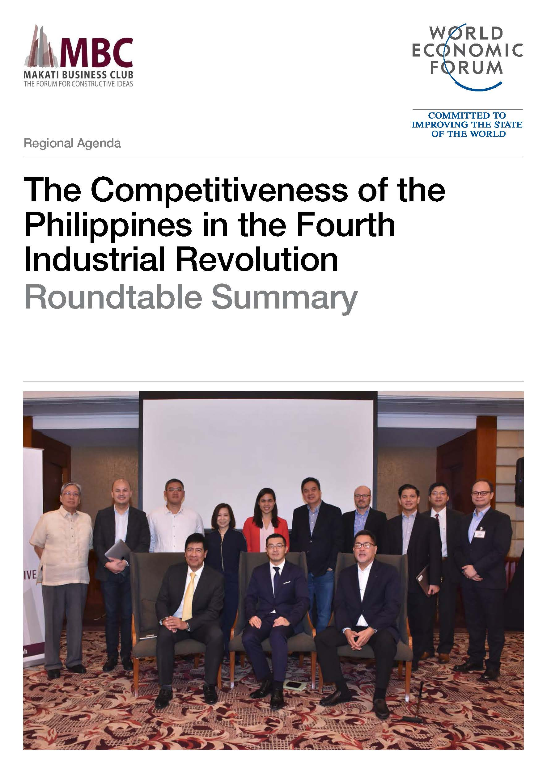 The Competitiveness of the Philippines in the Fourth Industrial Revolution Roundtable Summary